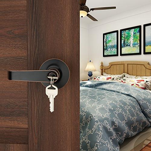 HENYIN Keyed Entry Door Knob Lever and