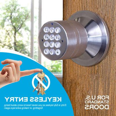 Turbolock Door Lock Keypad Entry Battery Backup