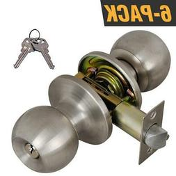 Grip Tight Tools Entry Door Knob Stainless Steel with 12 Key