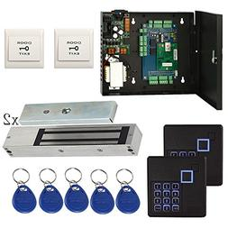 1200lbs Magnetic Lock 2 Door Security System Kit+Keypad Read