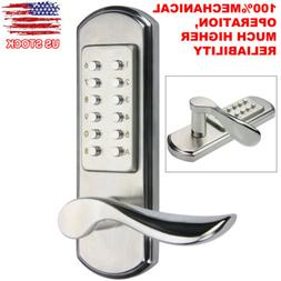 Mechanical Keyless Digital Left Handle Door Smart Lock Code