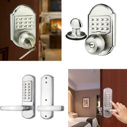 Mechanical Keyless Door Lock Digital Code Entry Keypad Stain