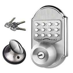 Mechanical Keyless Entry Door Lock Deadbolt Keypad Code Stai