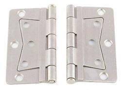 Mobile Home Parts 2 NEW Butterfly Door Hinges Nickel Finish