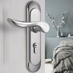 Modern Security Entry Lever Door Lock Set Dual Knob Handle L