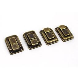 4 Pcs Necklace Box Case Lock Hook Hinge Latch Hasp Sets Bron