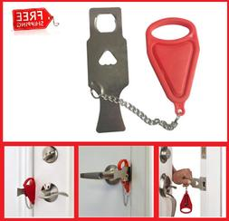 New Arrival! Portable Locks Self-Defense Door Stop Travel Ho