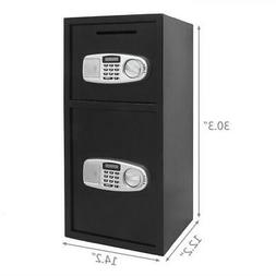 New Double Door Cash Office Security Lock Digital Safe Depos