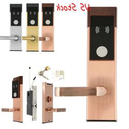 New Electronic Entry Door Lock RFID Cards Mechanical Keys Fo