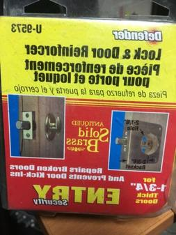 *new* Defender Security Entry U-9573 Lock And Door Reinforce