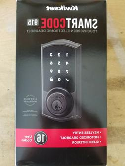 NEW Kwikset Smartcode 915 Venetian Bronze Deadbolt Door Lock