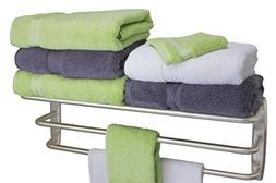 FPL Oversized 28 Inch Stainless Steel Hotel Towel Rack & She
