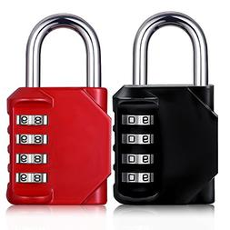 Padlock 4 Digit Code Number Combination Lock Outdoor Gym Sch
