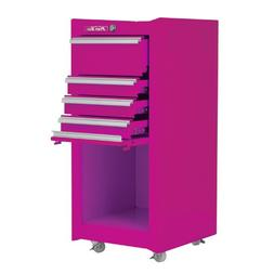 The Original Pink Box PB1804R 16-Inch 4-Drawer 18G Steel Rol