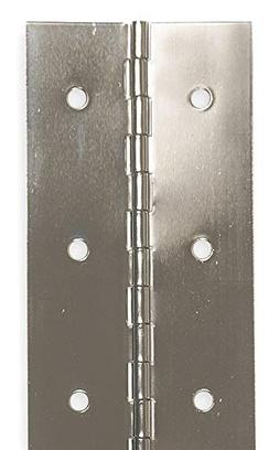 "Battalion Piano Hinge With Holes, Steel, 3"" Width, 6 ft. Len"