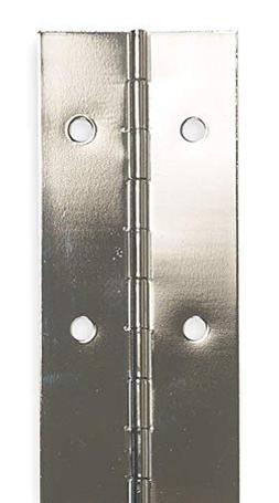 "Battalion Piano Hinge With Holes, Steel, 2"" Width, 2 ft. 6"""