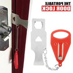 Portable Door Lock Hardware Safety Security Tool  for Home P