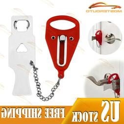 Portable Travel Security Safety Door Lock Home Hotel Intrusi