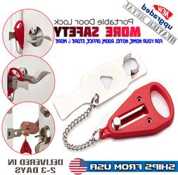 Portable Travel Security Safety Door Lock Room Hotel Intrusi
