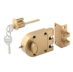 Prime-Line Single Cylinder Painted Brass Jimmy-Resistant Ent
