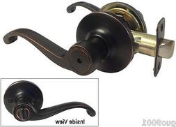 Lot of 10 Privacy Dark Oil Rubbed Bronze Privacy Door Knob L