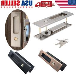 Recessed Sliding Pocket Door Privacy Lock with Pull Handles