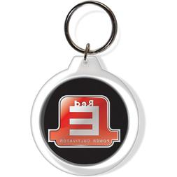 Red E Power Cultivator Garden Tractor Key Ring Keychain Fob