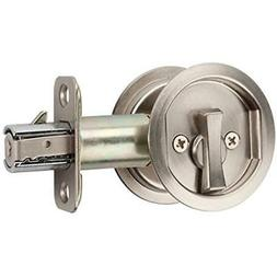 Citiloc Round Bed Bath Privacy Pocket Door Latch Satin Nicke
