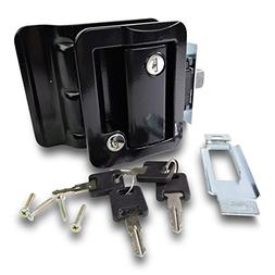 RV Travel Trailer Entry Door Lock Polar Black Paddle Deadbol