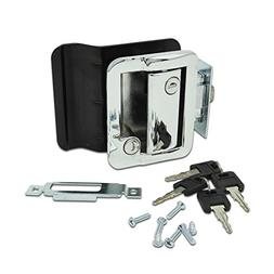 RV Travel Trailer Entry Door Lock Polar Chrome Paddle Deadbo