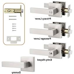 Satin Nickel Privacy Door Knob Passage Levers Door Handle En