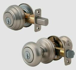 Kwikset 99910-034 Satin Nickel SmartKey Single Cylinder Juno