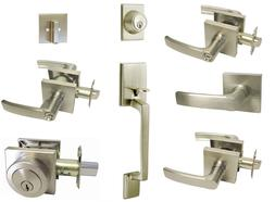 Satin Nickel Square door lever entrance privacy passage lock