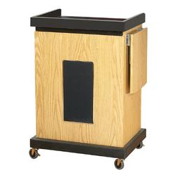"""Oklahoma Sound SCL-S-MY Smart Cart Lectern with Sound, 28"""" W"""