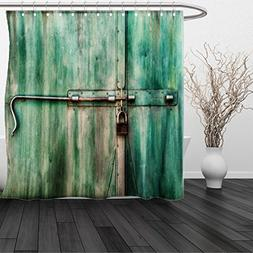 HAIXIA Shower Curtain Industrial Queen Aged and Closed Door