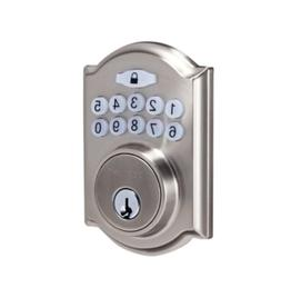Single Cylinder Satin Nickel Castle Electronic Entry Keypad