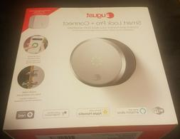 August Smart Lock Pro with Connect WiFi Bridge Silver BNIB N