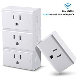 SoulBay 4 Pack Smart Plug, Wi-Fi Enabled Mini Outlet Socket