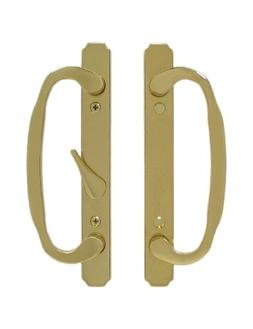 Solid Brass Sliding Glass Door Handle Set and Mortise Lock,