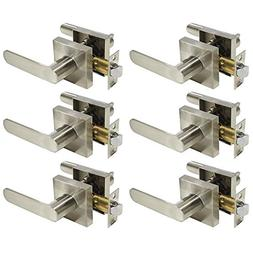 Probrico Square Style Hall and Closet Passage Door levers Br