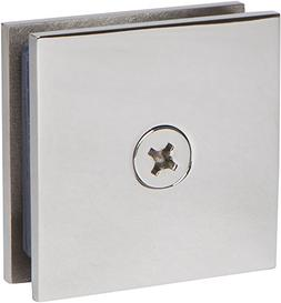 Square Wall Mount Glass Clamp in Polished Chrome Finish, 2 i