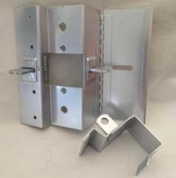 Temporary Construction Hasp Lock Securing Device For In/Outs
