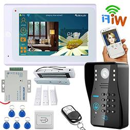 "MOUNTAINONE 7"" TFT Wired/Wireless Wifi RFID Password Video D"