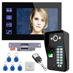 "MAOTEWANG Touch Key 7"" Lcd Fingerprint Recognition Video Doo"