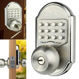 USA Safety Keyless Deadbolt Knob Door Lock Entry Keys Stainl