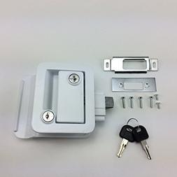 NEW RecPro WHITE RV CAMPER TRAILER MOTORHOME PADDLE ENTRY DO